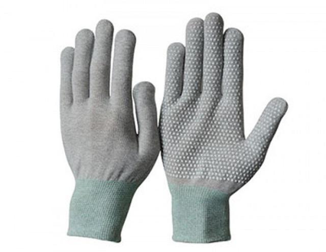 Kết quả hình ảnh cho Găng tay chống tĩnh điện chấm hạt PVC