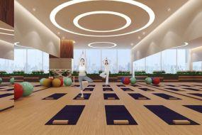 Sàn nhựa vinyl cho phòng tập Yoga êm ái, an toàn